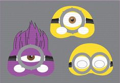 INSTANT DL- Despicable Me 2 mask Photo Booth Props Set- Minion Party Mask- Printable Birthday party Package