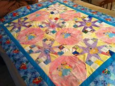Madison's Quilt, Disney Princesses, Minnie and other characters.