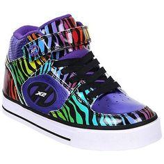 Heelys x2 cruz roller shoes - heel #skates w low profile - #purple/rainbow #tiger, View more on the LINK: http://www.zeppy.io/product/gb/2/331717584148/