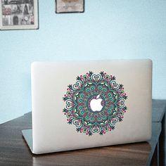 Flower MacBook decal Lid cover Macbook Pro skin Macbook Air Sticker 13137 ditantuanhua