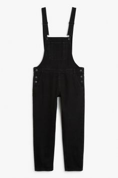 Monki Image 2 of Perfect dungarees  in Black