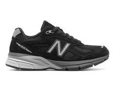timeless design 0e5a0 e438d New Balance 990v4, Black with Silver New Balance Sneakers, New Balance Shoes,  New
