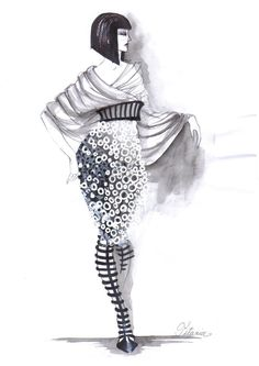 Fashion Sketches by Elke Ines Szilier - 30 Cool Fashion Sketches, http://hative.com/30-cool-fashion-sketches/,
