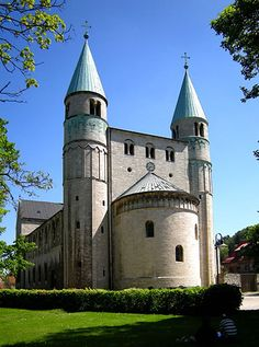 St. Cyriakus is a medieval church in Gernrode, Saxony-Anhalt, Germany. It is one of the few surviving examples of Ottonian architecture, built in 969/960-965.