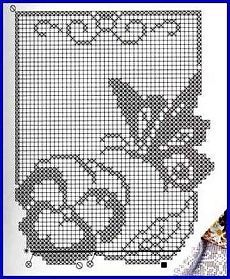 }}{{ and filet diagram ONLY Filet Crochet Charts, Crochet Diagram, Knitting Charts, Knitting Patterns, Crochet Patterns, Crochet Curtains, Crochet Tablecloth, Crochet Doilies, Butterfly Cross Stitch