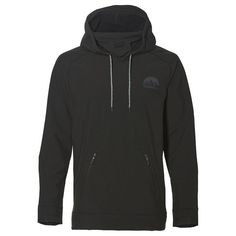b56357920e Mens Hybrid Tech Shield Fleece Hoodie (Black Out) Fleece Hoodie