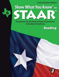 SWYK on STAAR grade 6 Reading Parent/Teacher edition with Tutorial CD. Also available- Student Workbooks and Flash Cards.