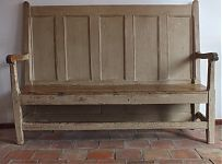 Bench crafted from old door  Pinboard of images from the Anton & K shop - French antique furniture, art deco interior decoration, painted chests, mirrors and more