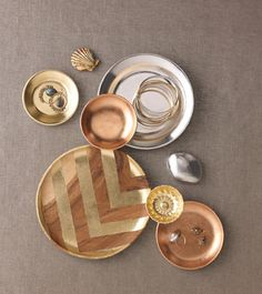 Roundup: 13 Gold and Copper DIY Ideas for This Year's Thanksgiving Dinner » Curbly | DIY Design Community
