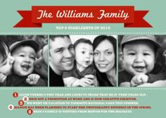 Mixbook Top 5 Highlights Christmas Cards