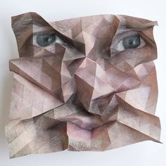 by weaving, creasing and tucking the surface of a paper sheet, austrian artist aldo tolino creates geometric mutations of human portraits. Photography Projects, Art Photography, Photography Sketchbook, Distortion Photography, A Level Art, Foto Art, Living At Home, Creative Portraits, Kirigami