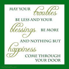 An Irish Blessing by Katie Crafts; http://katiecrafts.com