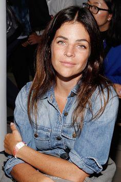 Julia Restoin-Roitfeld Denim Shirt - Julia Restoin-Roitfeld Looks - StyleBistro