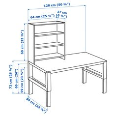 IKEA - PÅHL, Desk with shelf unit, white, This desk is designed to grow with your child, thanks to the three different heights. The desk is easily adjusted to 66 or 72 cm by using the knobs on the legs. Green Desk, Honeycomb Paper, Ikea Family, Cord Organization, Organizing, Kid Desk, Desk Shelves, Woodworking, Writing