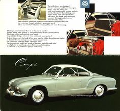 Volkswagen Karmann Ghia-I don't exactly remember the color, but a classmate drove me once in this and we went along a scenic route in L.A.