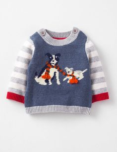 Boden Baby Sheep Dogs Logo Sweater, on our DogWatch Holiday Gift Guide for Pet-Obsessed People! Knitting For Kids, Baby Knitting, Toddler Fashion, Kids Fashion, Baby Sheep, Sheep Dogs, Pull Bebe, Baby Pullover, Mini Boden