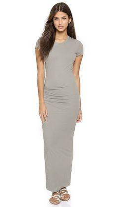 James Perse Tucked Tee Maxi Dress. Doubles as a maternity dress.