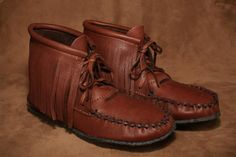 They come in a variety of colours! Fringe Fashion, Deerskin, Moccasins, Footwear, Flats, Ankle, Daily Fashion, Brown