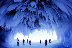 Ice caves at the Apostle Islands, frozen Lake Superior .... Going this weekend!!!! 1200 mile drive but I have to see it! SN