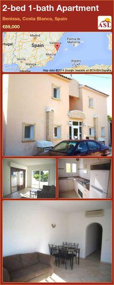 2-bed 1-bath Apartment in Benissa, Costa Blanca, Spain ►€89,000 #PropertyForSaleInSpain
