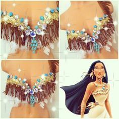 Reserved for little_plurmaid: Pocahontas Rave Bra by TheLoveShackk