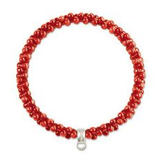 Thomas Sabo Red, Orange Bracelet - Sterling Silver - Large | Wheelers Luxury Gifts