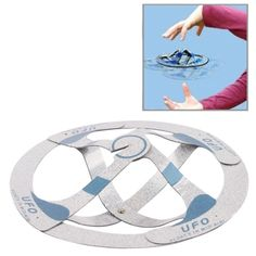 [$1.96] Magic Trick Toy - Floats in Mid-air UFO Flying Saucer(Silver)