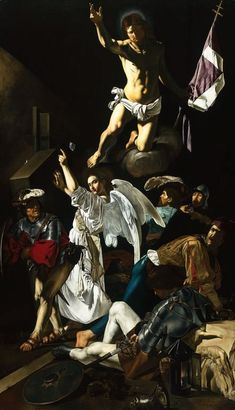 The Resurrection, Caravaggio.  Art Experience NYC  www.artexperiencenyc.com/social_login/?utm_source=pinterest_medium=pins_content=pinterest_pins_campaign=pinterest_initial