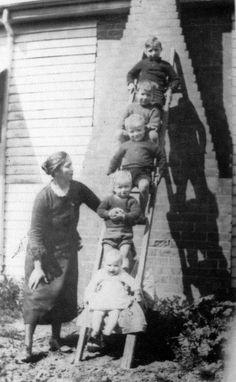 Sepia Saturday - The Jackel boys #sepiasaturday #Wangarattahistory