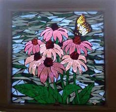 Glass Mosaic Artworks & Illustrations by NiagaraGlassMosaics Niagara Glass Mosaics I Mosaic Gallery I Florals Mosaic Garden Art, Mosaic Tile Art, Mosaic Artwork, Mosaic Glass, Mosaic Mirrors, Glass Art, Mosaic Art Projects, Mosaic Crafts, Faux Stained Glass