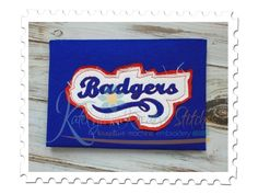 Badgers Distressed Applique for machine embroidery