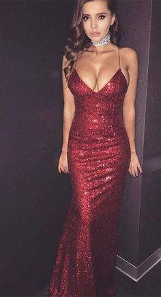 prom dresses,sexy evening dresses,mermaid prom dresses,spaghetti straps prom dresses,burgundy prom dresses