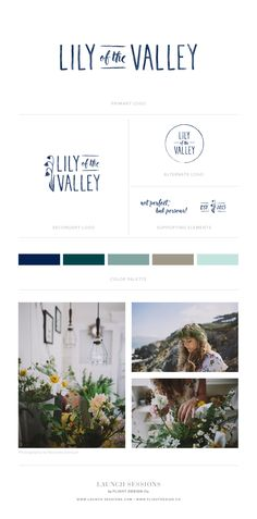 Lily of the Valley | Logo, Branding & Style Guide by Launch Sessions of Flight Design Co.