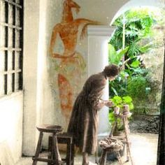 Leonora Carrington, en Xilitla, SLP, bajo el mecenazgo de sir Edward James Edward James, Dorothea Tanning, The Artist's Way, Max Ernst, Extra Terrestrial, Surrealism Painting, Mexican Artists, Floor Art, Famous Art