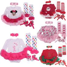 2016new Baby Girl Christmas Clothing Infant Sets Long Sleeve Romper Dress Jumpsuit Vestidos Bebe Outfit Birthday Party Costumes(China (Mainland))