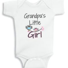 funny baby onesies, Grandpa's little Girl baby onesie