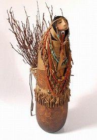 """*Gourd Art - """"Apache Folk Art"""" by Robert Rivera"""