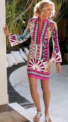 The Bohemian Tunic Dress | Tory Burch Resort | Resort 2013 ...