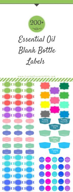 Need essential oil labels for all your DIY recipes? We are offering a FREE Essential Oil Blank Bottle Labels printable guide, there is a variety of color and types of labels plus a step by step guide on how to use the labels on your bottles. Get your copy now! https://www.lovingessentialoils.com/pages/200-free-essential-oil-labels-you-can-print-up-for-your-diy-recipes