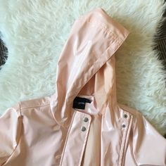 light pink raincoat the item is petite so keep that in mind for sizing; no trades (unless for similar or designer brands); all of my items are also on my ebay for cheaper @teiepath ASOS Jackets & Coats