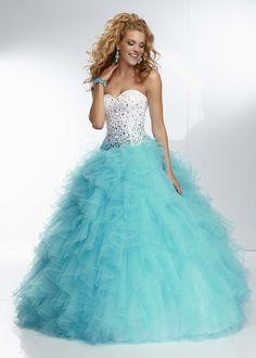 Mori Lee 95119 - Freeze Strapless Beaded Ball Gown Prom Dresses Online #thepromdresses