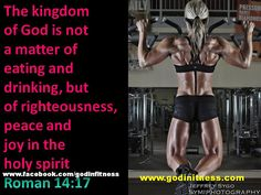 The Kingdom of God is not a matter of eating and drinking, but of peace and righteousness
