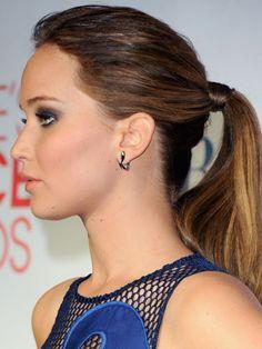 Jennifer Lawrence Ponytail Hairstyles http://zntent.com/jennifer-lawrence-ponytail-hairstyles/