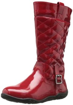 Quilted stitch details Inside zip entry Give her totally glam style with this fun fashion bootQuilted synthetic patent upperSide zipper for easy on/off $ 44.95