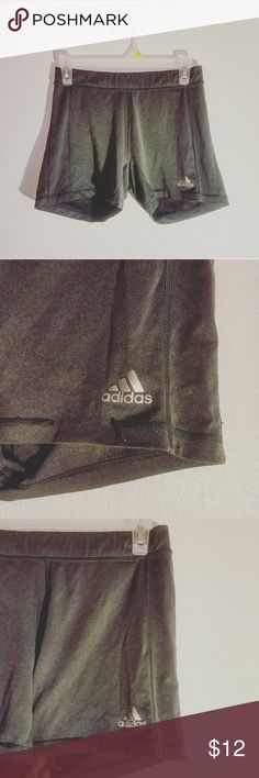 ADIDAS Spandex Super comfortable ADIDAS spandex. | Dark grey in color. | One minor flaw with stitching on left leg. | Excellent to workout in & wear under shorts or sweats. adidas Shorts