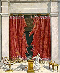 Bildergebnis für Veil of the tabernacle of Moses The Veil, Tabernacle Of Moses, Arte Judaica, Jewish Temple, Bible Illustrations, Bible Pictures, Prophetic Art, High Priest, Biblical Art