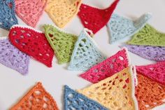 Cherry Heart lace bunting