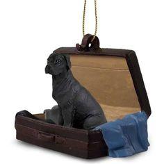 Great Dane Black Dog Tag Along Carrycase Pet Ornament