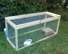 Large Simple Outdoor Rabbit Cage Need to make it shorter and with a shade cover.