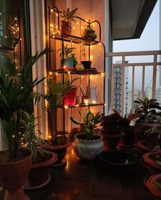Home style Tour with Rajni in Hyderabad: Bring nights alive with fairy lights at. Home style Tour Quirky Home Decor, Indian Home Decor, Diy Home Decor, Apartment Balcony Decorating, Apartment Balconies, Style At Home, Living Room Lighting, Living Room Decor, Bedroom Decor